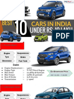 Best 10 Cars In India Under Rs. 10 lakh
