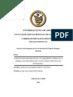 COMUNICACIÓN ORGANIZACIONAL Y EL DESEMPEÑO LABORAL EN LA EMPRESA ELECTROCERCOS DEL CANTÓN AMBATO PROVINCIA DE TUNGURAHUA