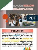 Población migración urbanización