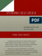 Ppt Analisis Gigi