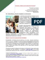 Acceso a la información y defensa de los derechos humanos