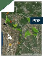 Mapa de Áreas Protegidas de Bolivia