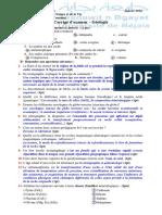 Corrigé Examen Géologie 2013-2014