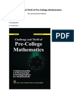 Challenge and Thrill of Pre-College Mathematics (2018, New Age International Publishers)