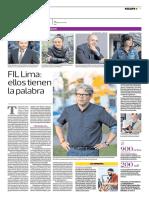 FIL Lima, Ellos Tienen La Palabra