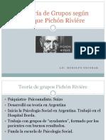 La Teoría de Grupos Según Enrique Pichón Riviére