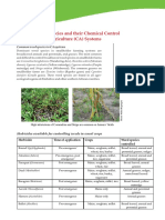 Common Weed Species and Their Chemical Control