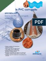 Tarifa Adequa 2015 Sistemas de PVC Corrugado SANECOR Esp