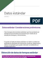 Datos estándar unidad2