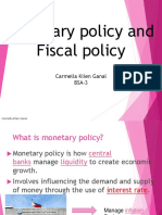 Monetary Policy and Fiscal Policy