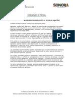 18/06/18 Reiteran Sonora y Arizona colaboración en temas de seguridad -C.061859