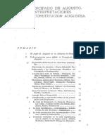 Alvarez Suarez_El Principado de Augusto_Interpretaciones de La Constitución Augustea
