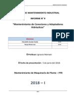 Tarea 9. Mantenimiento de Conectores y Adaptadores en Instalaciones Hidráulicos.doc
