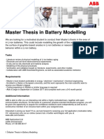 Data Overview - Master Thesis in Battery Modelling