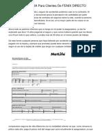 SEGUROS DE VIDA Para Clientes De FENIX DIRECTO