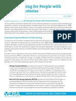 Vera Housing Criminal Histories Fact Sheet