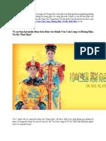 Cho Thuê Trang Phục Vua Càn Long, Từ Hy Thái Hậu