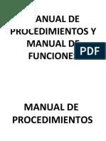 Manual de Funciones y Manual de Procedimientos