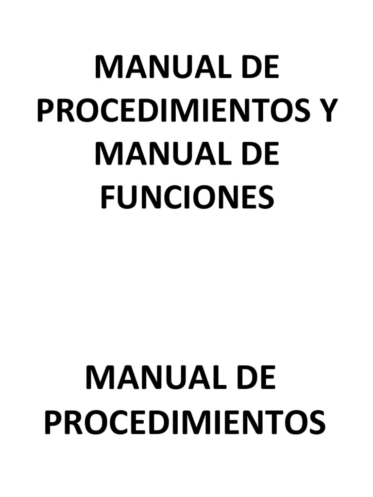Manual de funciones y manual de procedimientos for Manual de funciones y procedimientos de un restaurante