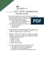 Lista de Exercícios 13 - Procedimento e Função