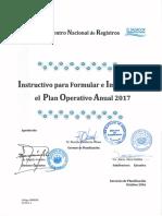 1.Instructivo Para Formular e Implementar El Plan Operativo Anual 2017