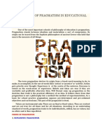 Implications of Pragmatism in Educational System