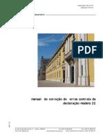 Manual Correcao Erros Centrais Modelo 22