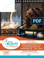 VAASA WILDLIFE  FESTIVAL- Official Selection 2018