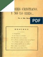 Te Crees Cristiano y No Lo Eres