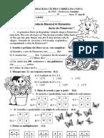 Avaliação Bimestral de Matemática - 3º Bimestre
