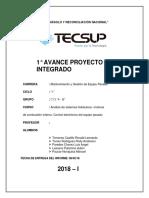 Avance Proyecto Integrador