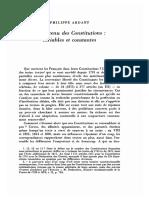 ARDANT, Philippe, « Le Contenu Des Constitutions - Variables Et Constantes », 1989