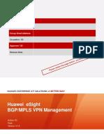 Esight v300r001c10 Bgp Mpls VPN Management