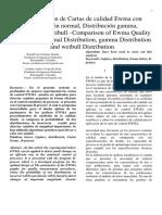 Comparación de Cartas de Calidad Ewma Con Distribucion Normal y Distribuccion de Laplace