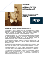 Botez Adrian - Actualitatea Romaneasca