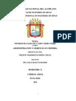 Informe de Cerro Verde