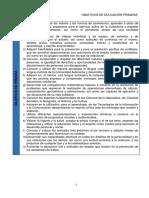 Objetivos Generales de Educación Primaria