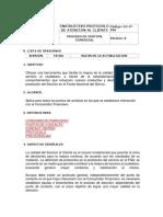 Instructivo de Protocolo de Atención Al Cliente