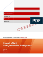 ESight V300R001C10 Configuration File Management