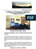 Pastor Bill Kren's Newsletter - July 1, 2018