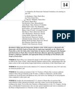 October 2017 DNC Resolution Supporting Puerto Rico Statehood
