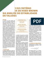 APLICAÇÃO DO CRITÉRIO DE RUPTURA DE HOEK-BROWN EM TALUDES.pdf