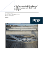 Investigation of fallen Precast beams