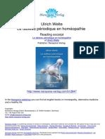 Le Tableau Periodique en Homeopathie Ulrich Welte.12847 Extrait Syteme Periodique