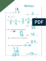 Form 3 Mathematics National Exams Year 2014 Answers By Mr Binyamine Kurmally