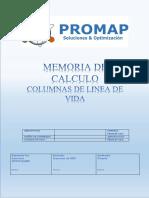 Memoria de Calculo de COLUMNAS LINEA de VIDA Rev2