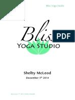 Bliss Yoga Studio Final Report