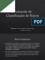 Slide protocolo de Classificação de Risco