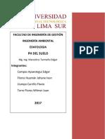Informe 8 PH Del Suelo