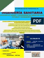 Brochure de Ingeniería Sanitaria Aplicado Al Diseño y Supervisión de Agua Potable y Saneamiento 2